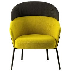 Wam Yellow Lounge Chair, Designed by Marco Zito, Made in Italy