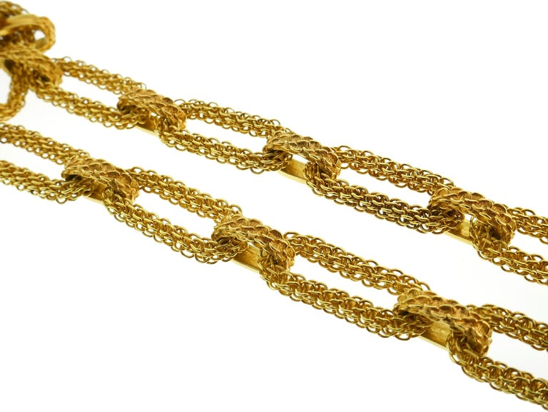 Wander Yellow Gold Leo Pendant Necklace Pin Brooch Zodiac Lion Link Chain, 1970s For Sale 4