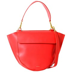 Wandler Red Leather Medium Hortensia Shoulder Bag w/ Crossbody Strap rt. $920