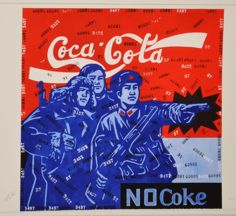 <i>Coca-Cola No Coke</i>, 2007–08, by Wang Guangyi, offered by Weng Contemporary (ArtXX AG)