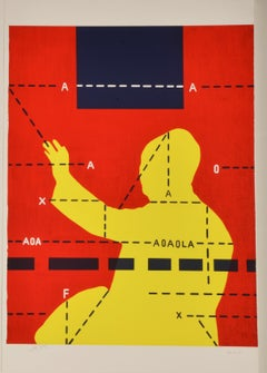 Mao Zedong Waving with Black Square - Contemporary, 21st Century, Lithograph