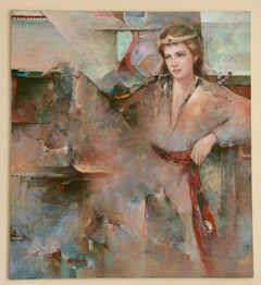Impressionist  Female Visions of Camelot Figurative Painting