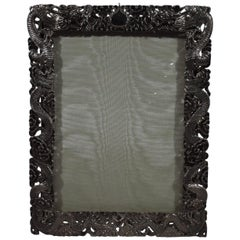 Wang Hing Chinese Silver Serpentine Serpent-Dragon Picture Frame