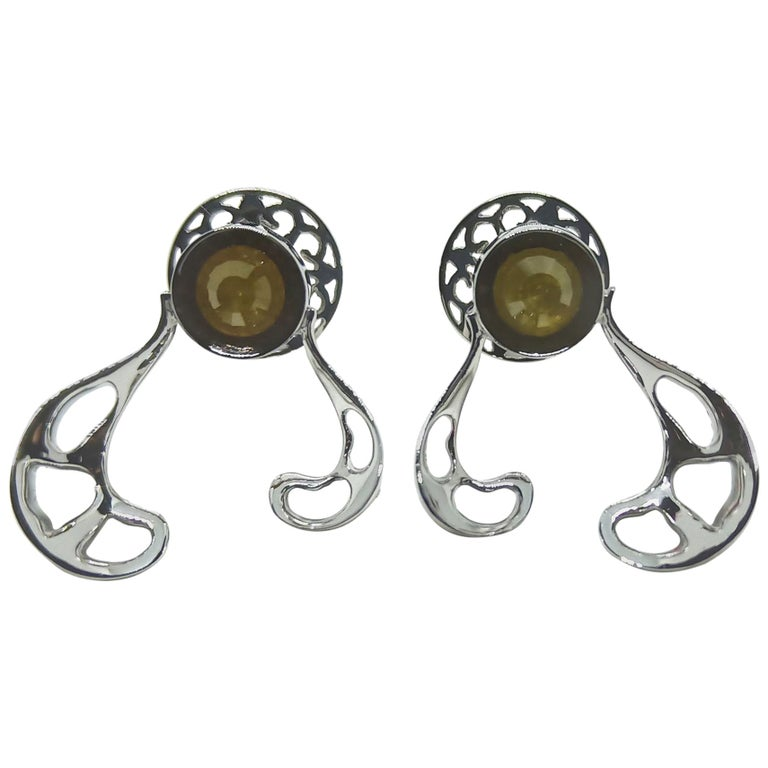 Want Facelift? Amaze Yourself with Contemporary Yellow Diamond Gold Earrings For Sale