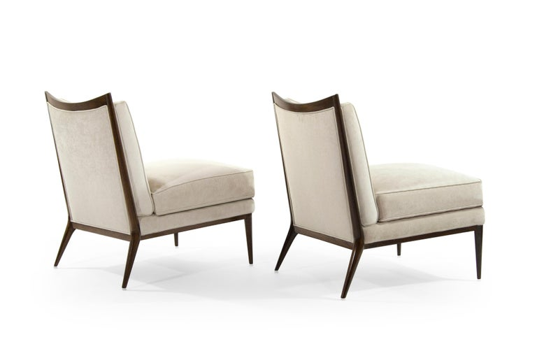 American Wanut Frame Slipper Chairs by Paul McCobb for Directional For Sale