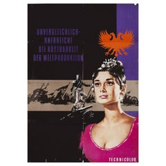"""""""War and Peace"""" R1960s German A1 Film Poster"""