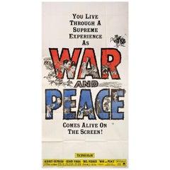 'War and Peace' R1963 U.S. Three Sheet Film Poster
