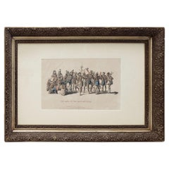 War Dance of the Sauks and Foxes Hand Colored Lithograph, circa 1837