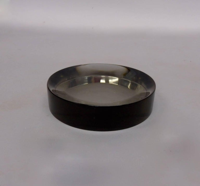 Mid-Century Modern Ward Bennet Concave Glass Paperweight for Tiffany For Sale