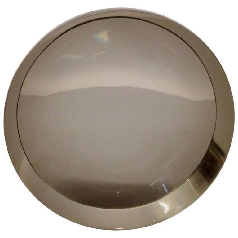 Ward Bennet Concave Glass Paperweight for Tiffany For Sale