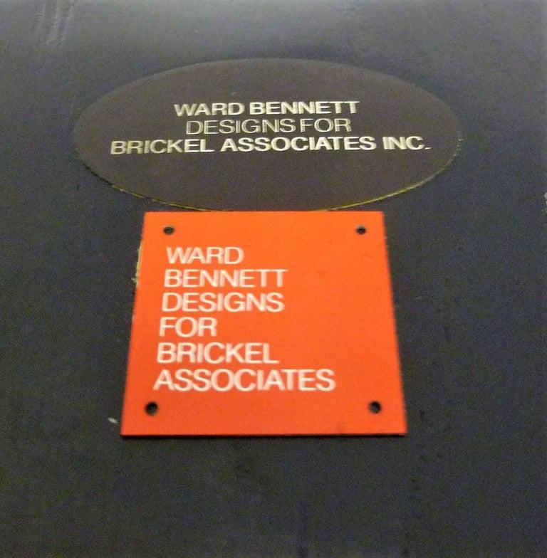 Ward Bennett 1550 University Black Ash Armchair for Brickel Associates For Sale 10