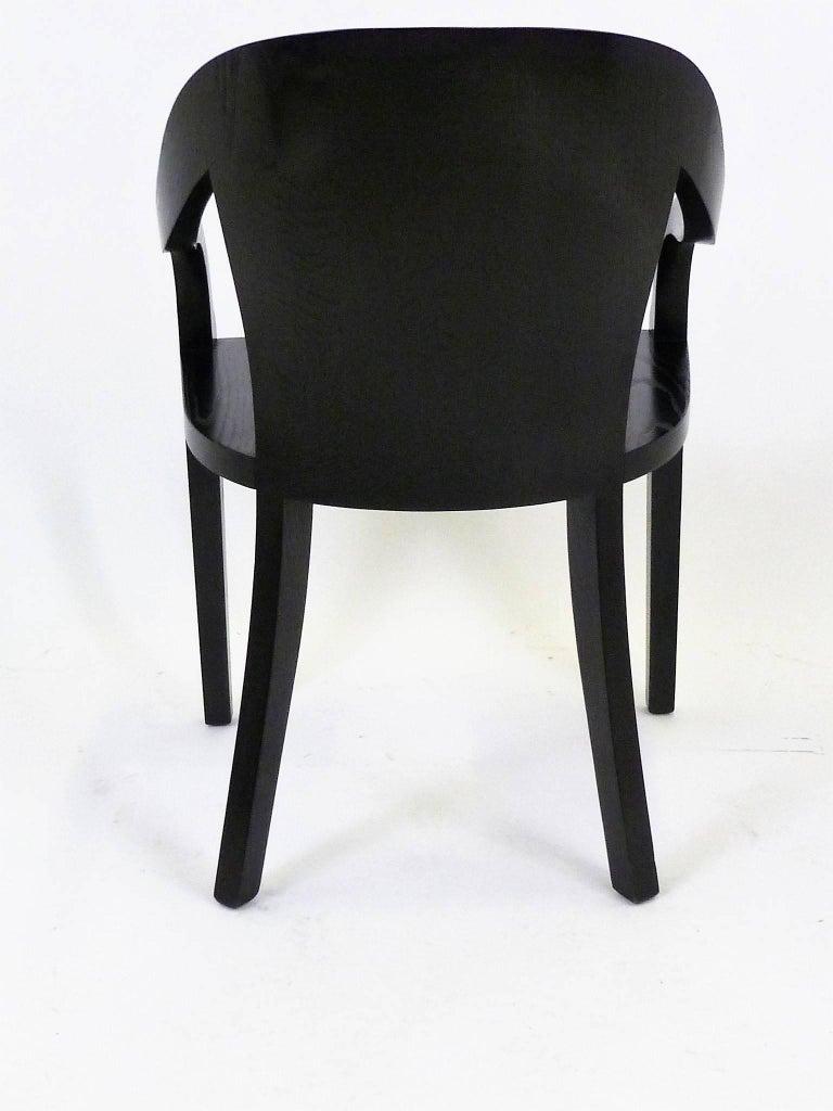 Mid-Century Modern Ward Bennett 1550 University Black Ash Armchair for Brickel Associates For Sale