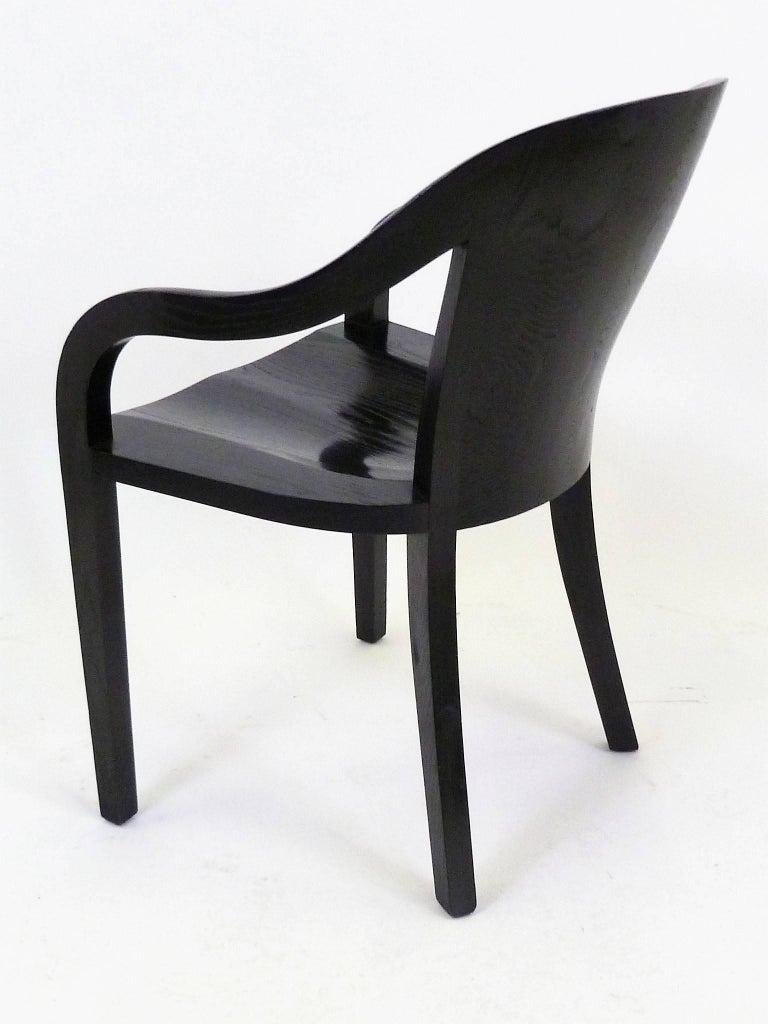 American Ward Bennett 1550 University Black Ash Armchair for Brickel Associates For Sale