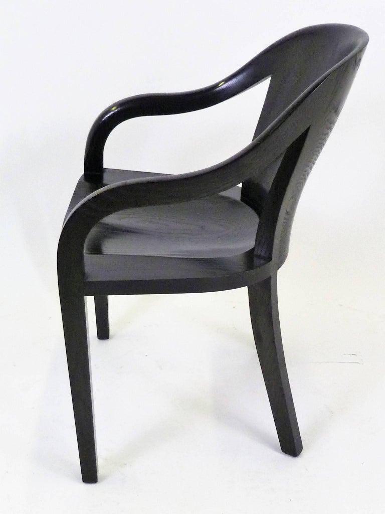 Ebonized Ward Bennett 1550 University Black Ash Armchair for Brickel Associates For Sale