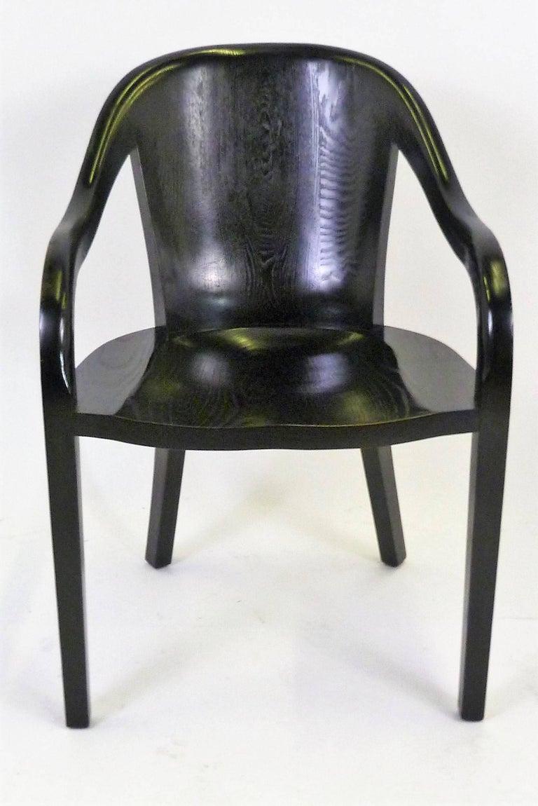Late 20th Century Ward Bennett 1550 University Black Ash Armchair for Brickel Associates For Sale