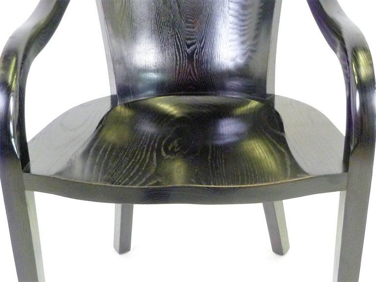Ward Bennett 1550 University Black Ash Armchair for Brickel Associates For Sale 2