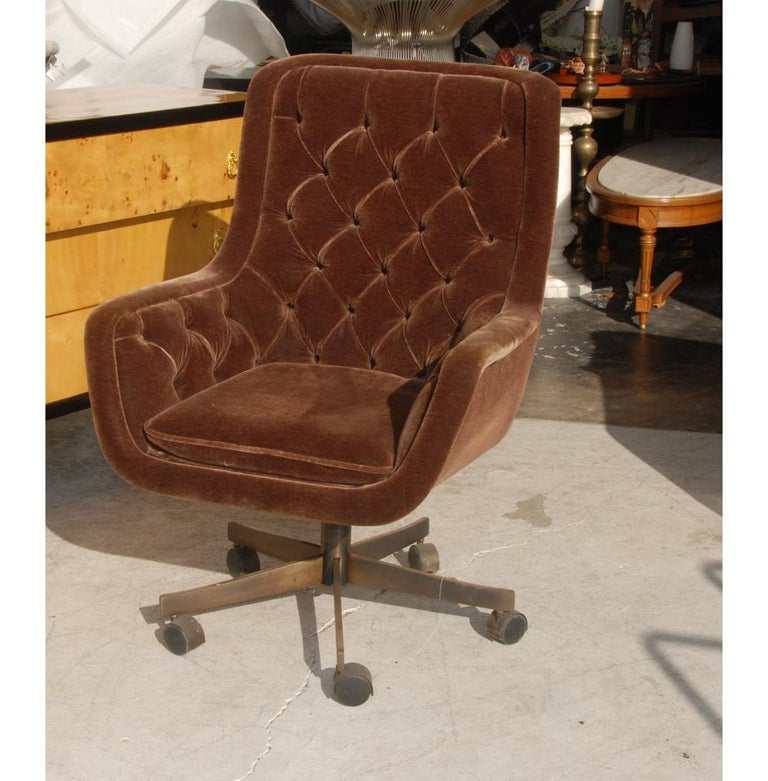 American Ward Bennett Brickel Executive Desk Chair Bronze Base For Sale
