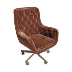 Ward Bennett Brickel Executive Desk Chair Bronze Base