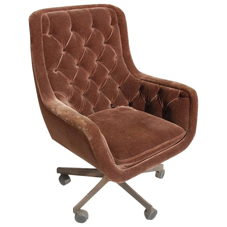 Ward Bennett Brickel Executive Desk Chair Bronze Base For Sale