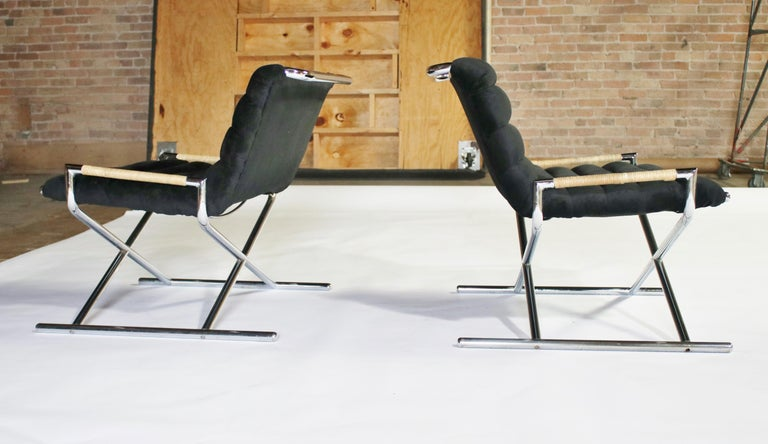 Mid-Century Modern Ward Bennett Brickell Sled Chairs For Sale
