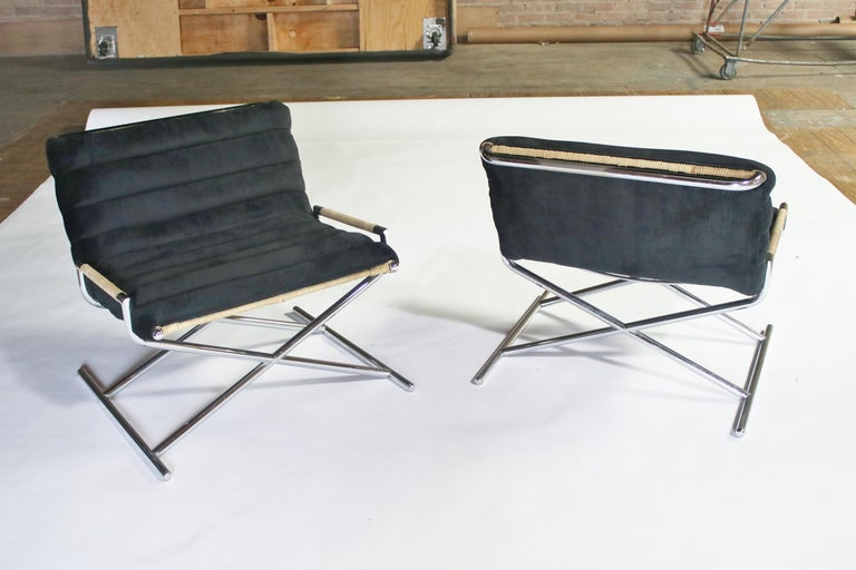 American Ward Bennett Brickell Sled Chairs For Sale