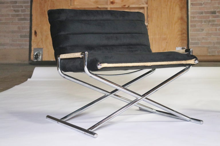 Ward Bennett Brickell Sled Chairs In Good Condition For Sale In Chicago, IL