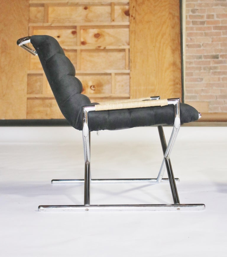 Fabric Ward Bennett Brickell Sled Chairs For Sale