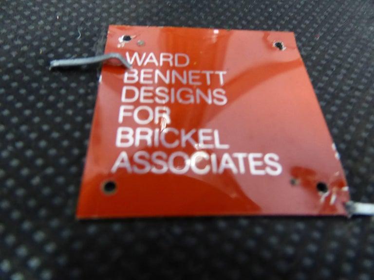 Ward Bennett Bumper Office Chair in Houndstooth Brickel Associates For Sale 4