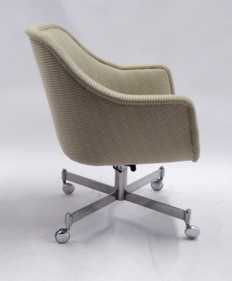 Ward Bennett Bumper Office Chair in Houndstooth Brickel Associates For Sale 1
