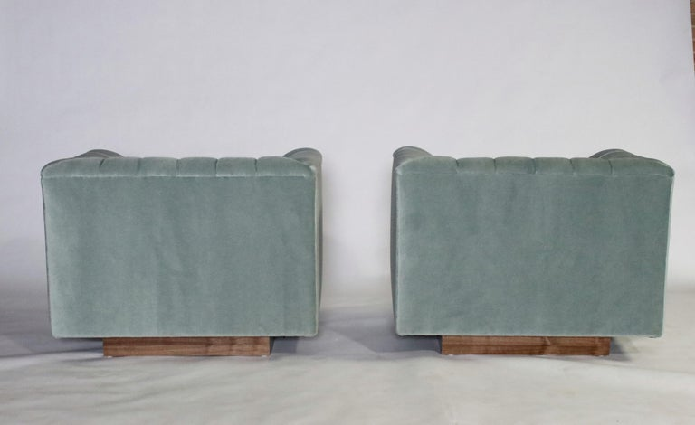 Mid-20th Century Ward Bennett Cube Club Chairs For Sale