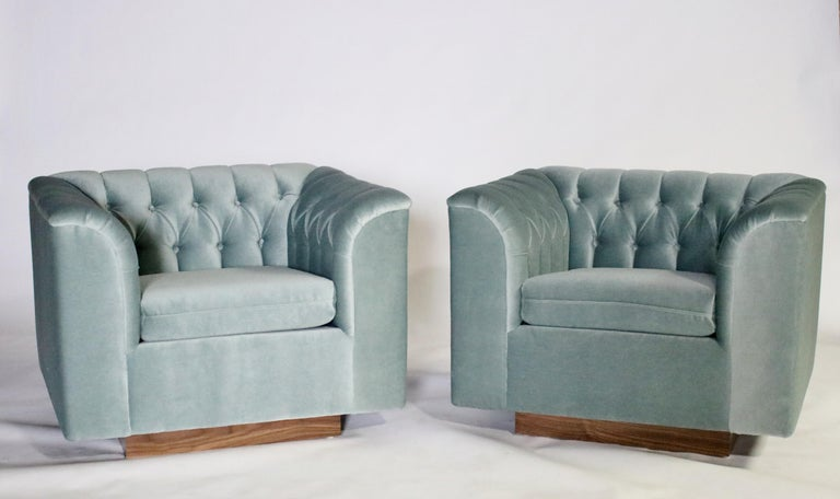 Ward Bennett Cube Club Chairs For Sale 1