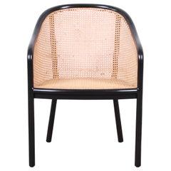 Ward Bennett for Brickel Associates Ebonized Ash and Cane Armchair, Refinished