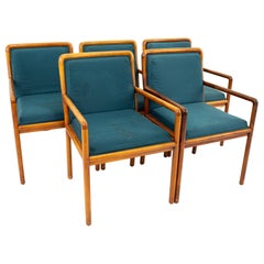 Ward Bennett for Brickel Associates Midcentury Armchairs, Set of 5