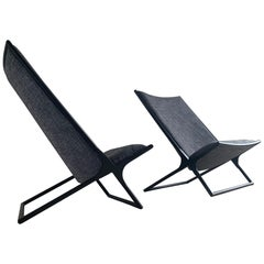 Ward Bennett for Brickel Associates Scissor Chairs, Price for Pair