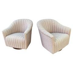 Ward Bennett for Brickel Swivel Lounge Chairs /Pair