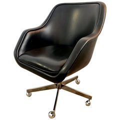 Ward Bennett Leather Desk Chair