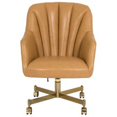 Ward Bennett Leather Office Chair