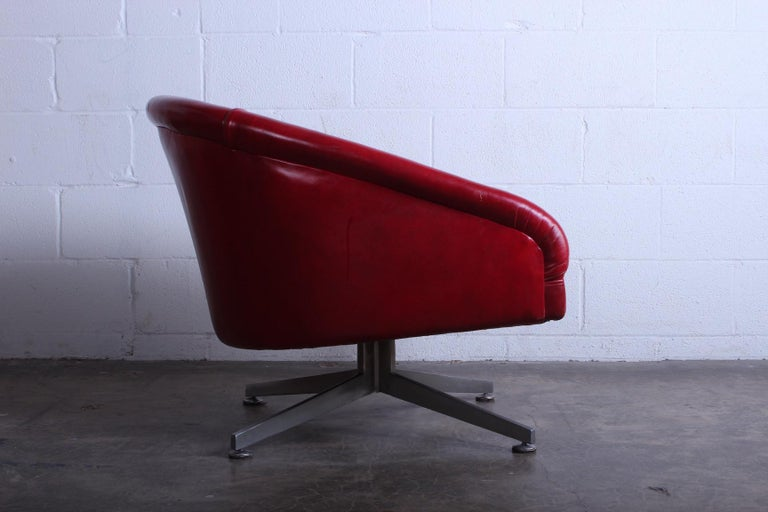 Leather Ward Bennett Lounge Chair for Lehigh Leopold For Sale