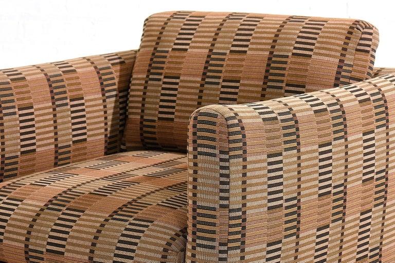 Modern Manhattan Lounge Chairs Bauhaus Fabric, 1980 For Sale