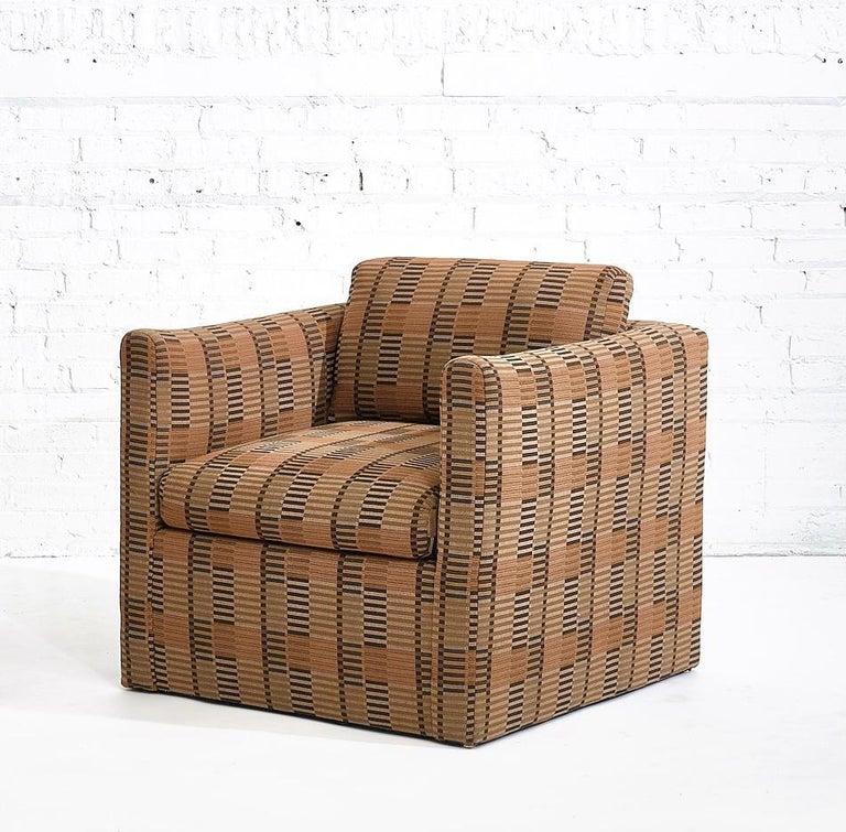 American Manhattan Lounge Chairs Bauhaus Fabric, 1980 For Sale