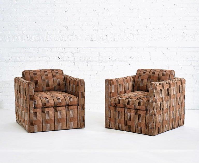 Late 20th Century Manhattan Lounge Chairs Bauhaus Fabric, 1980 For Sale