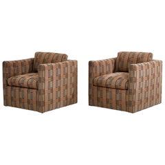Ward Bennett Lounge Chairs Bauhaus Fabric, 1970