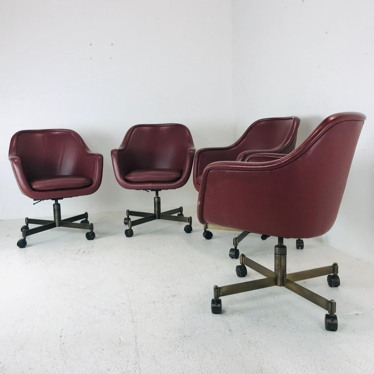 Vintage Ward Bennett office chairs, 4 available.