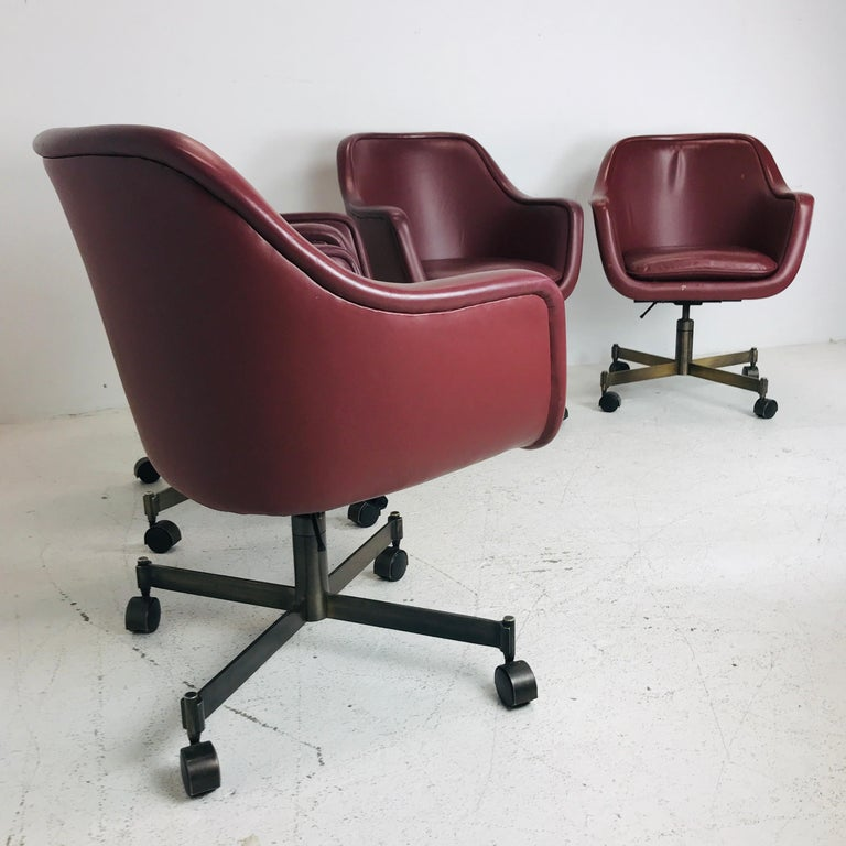 Metalwork Ward Bennett Office Chairs For Sale