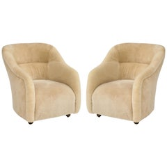 Ward Bennett Sheepskin Club Chairs