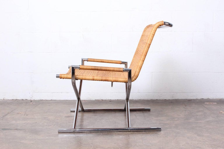 Mid-20th Century Ward Bennett Sled Chair For Sale