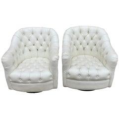 Ward Bennett Swivel Lounge Chairs