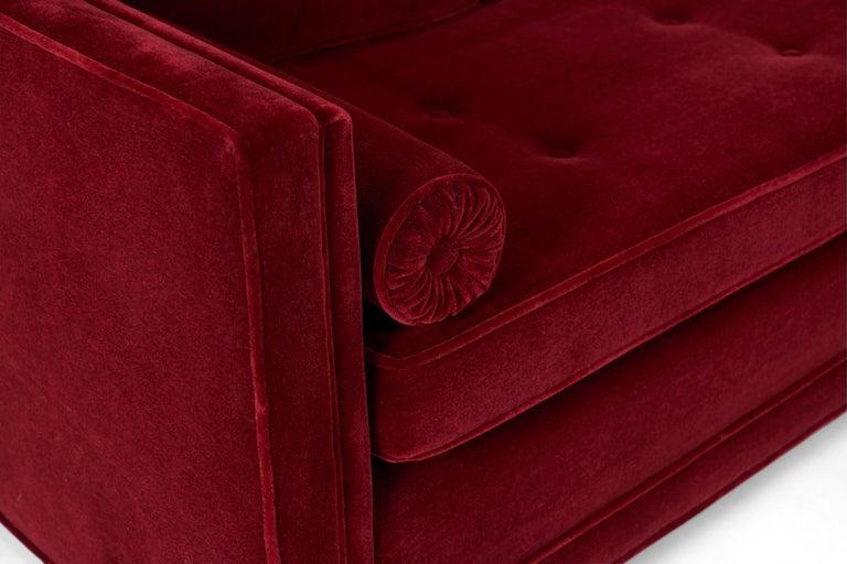 Mid-Century Modern Ward Bennett Tuxedo Sofa For Sale