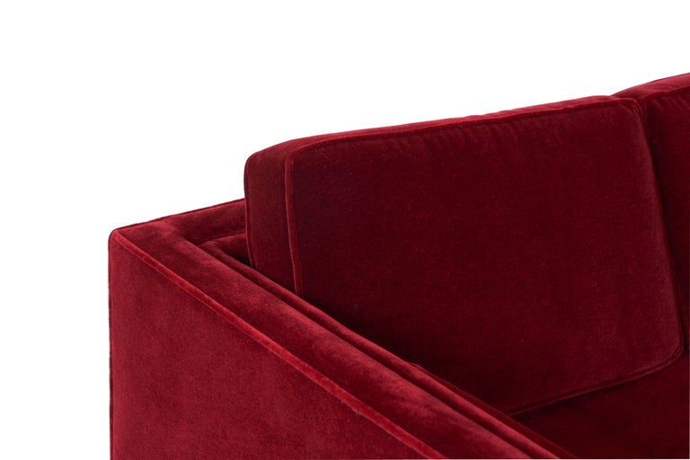 American Ward Bennett Tuxedo Sofa For Sale