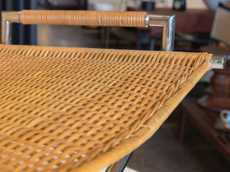 Ward Bennett Woven Sled Chair In Good Condition For Sale In Brooklyn, NY